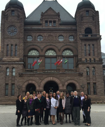 Epilepsy Ontario representatives from across the province are seen here in front of Queen's Park Feb. 28 during Epilepsy Action Day 2017.